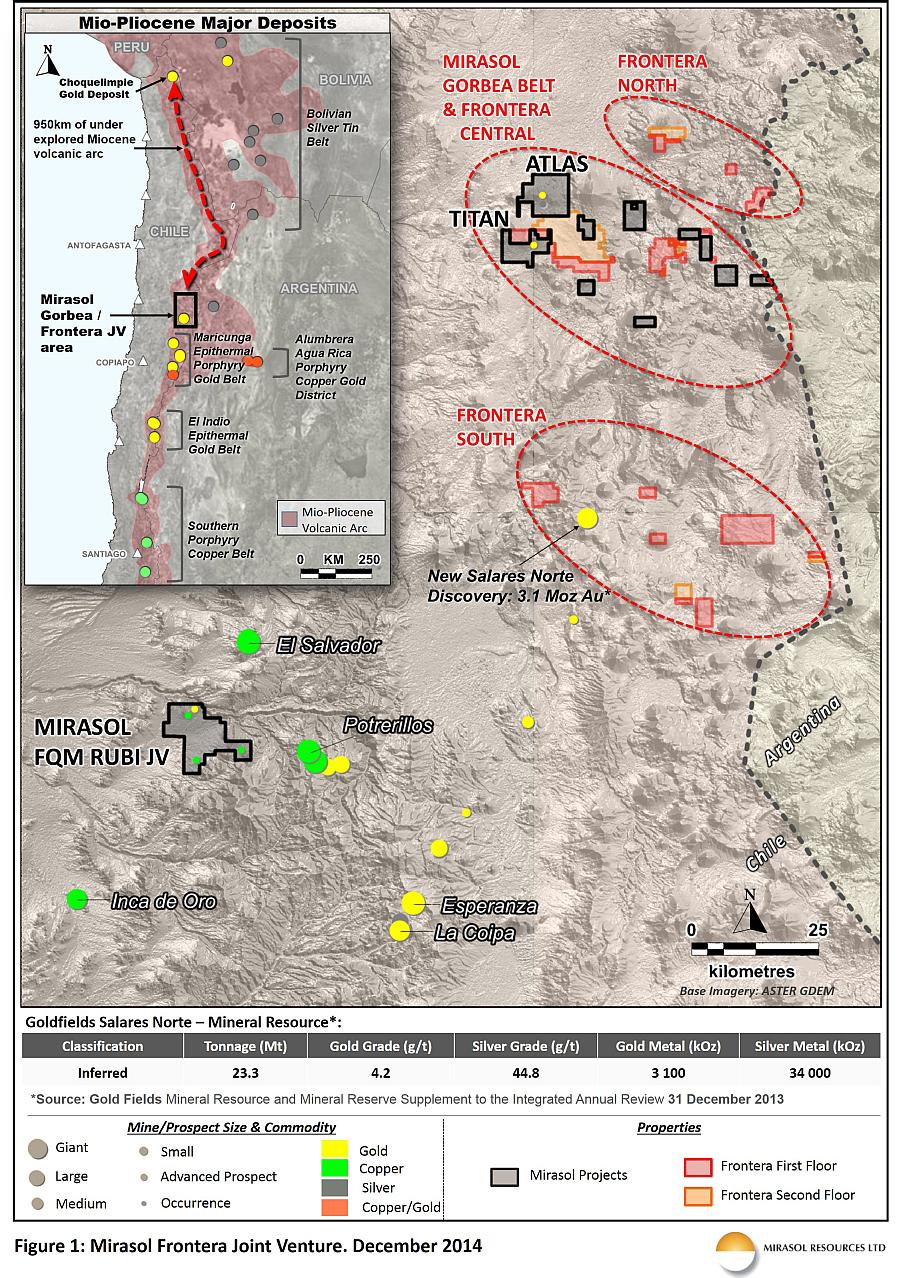 Figure 1: Mirasol Frontera Joint Verture. December 2014