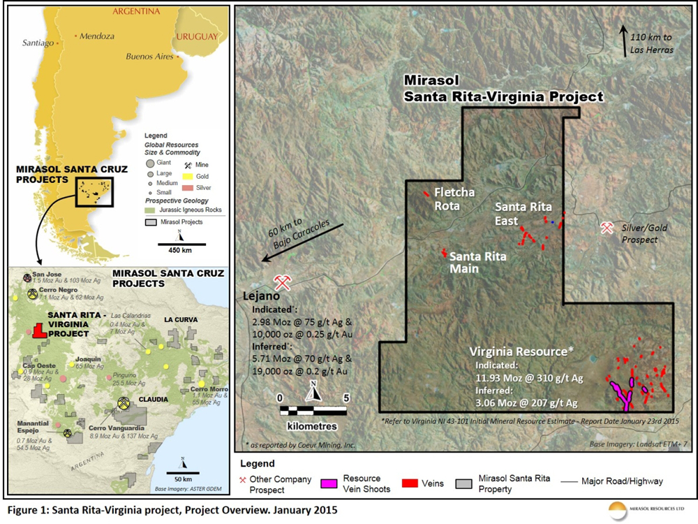 Figure 1: Santa Rita-Virginia project, Project Overview. January 2015