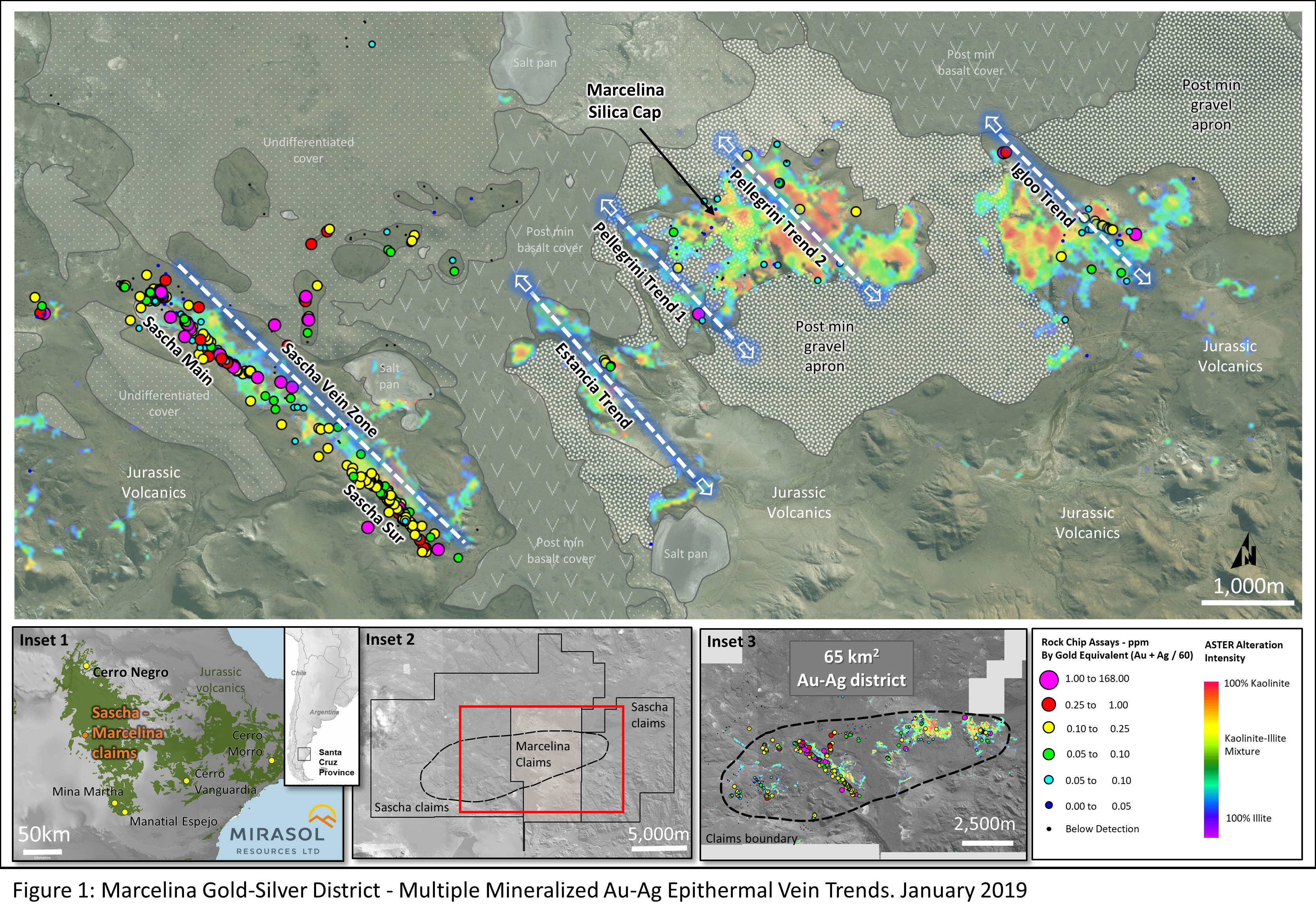 Mirasol Consolidates Large Underexplored Gold – Silver District in